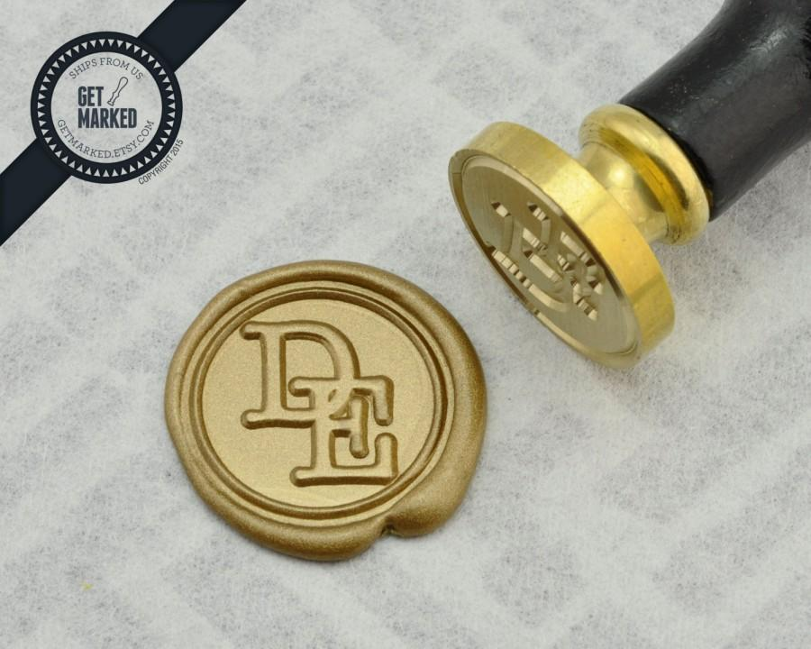 Mariage - Serif 3 - Customized Wax Seal Stamp Template by Get Marked (WS0258)