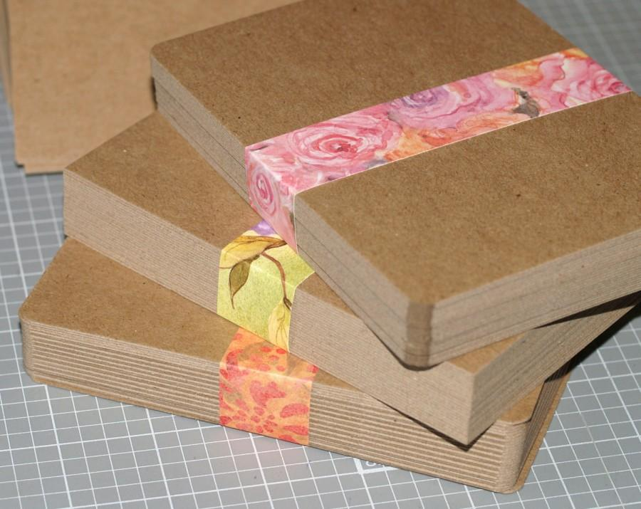 Свадьба - A2 Chipboard Postcards (50) ... Medium Weight 4.25 x 5.5 Kraft Blank Cards Announcements Invitations Parties Rustic Recycled Greeting Cards