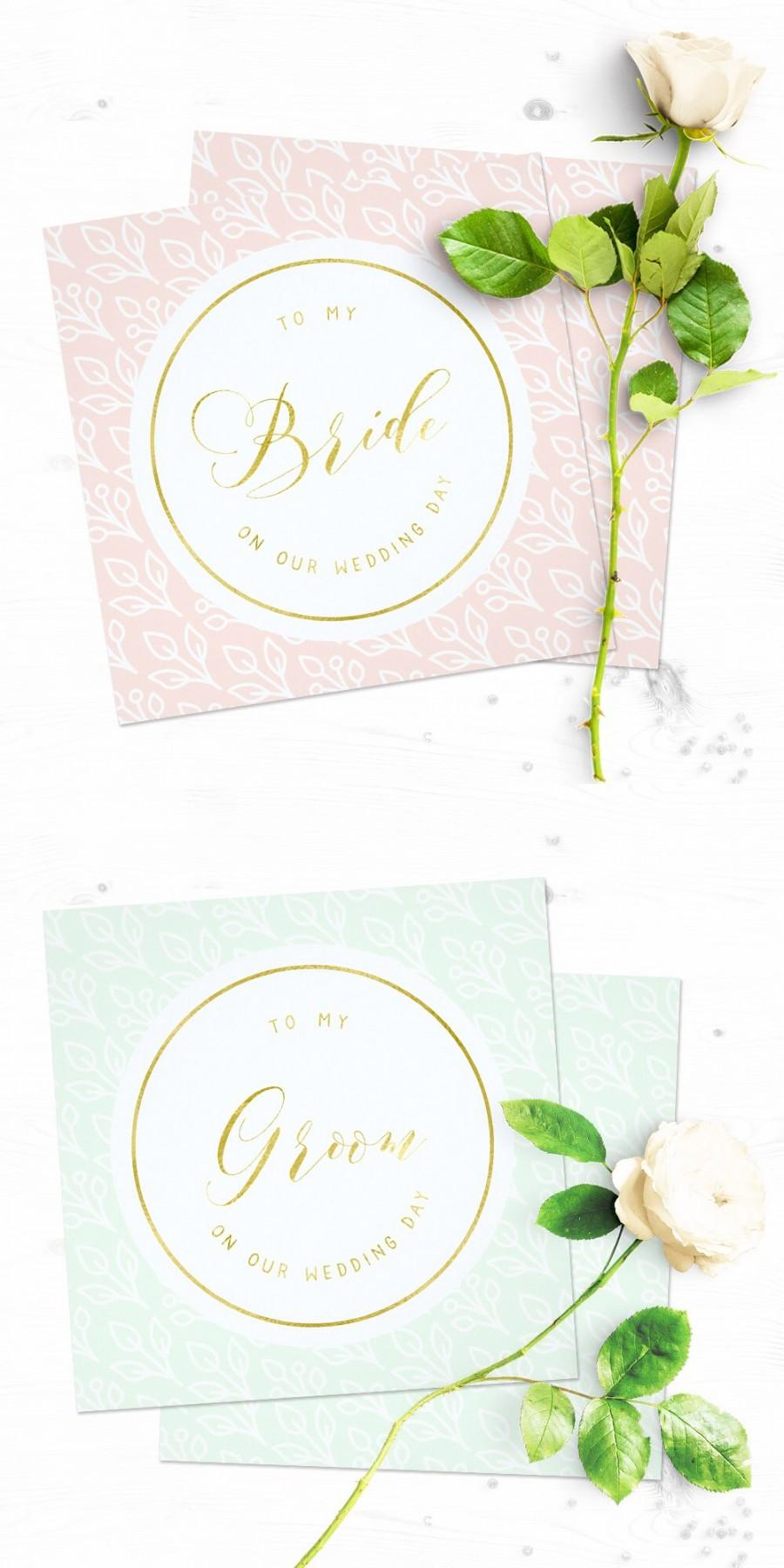 زفاف - Modern Delicate Floral Wedding Day Cards