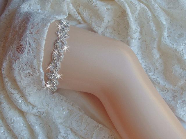 Свадьба - Wedding Bling, Bridal Garter Belt, Wedding Garder, Rhinestone Garter  with Crystals, Bridal Accessories, Wedding Lingerie, Bridal Bling