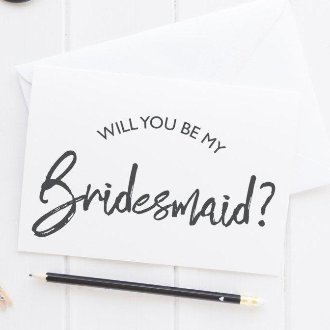 Свадьба - Bridesmaid card