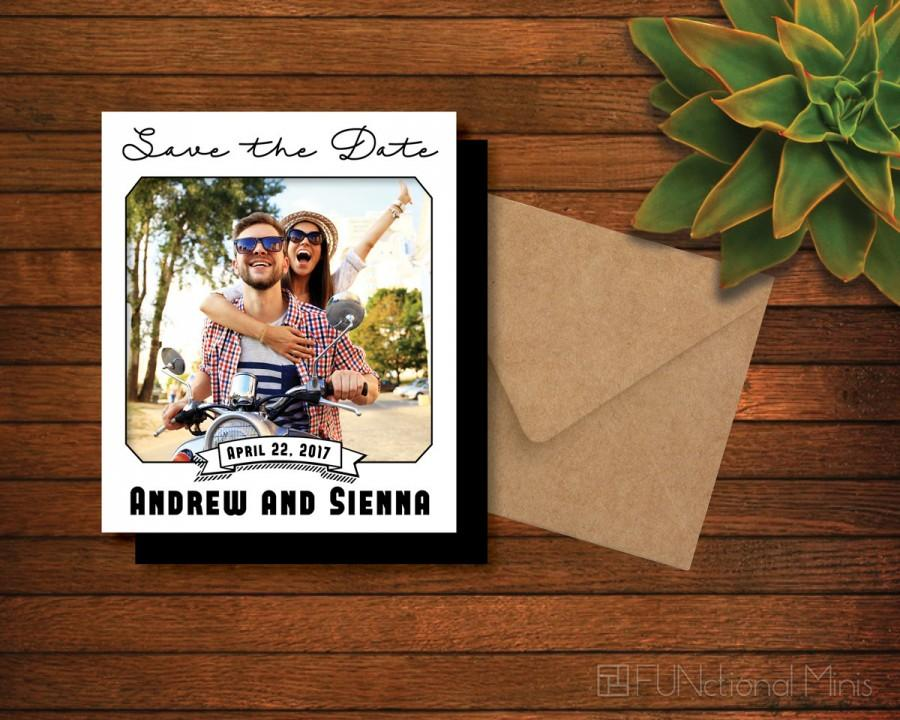 زفاف - Save the Date Photo Magnet > Hand Stamped Envelope Included