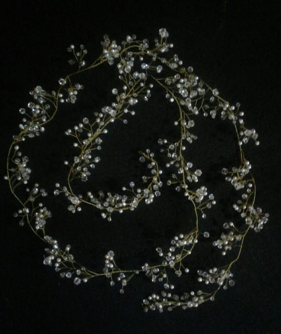 زفاف - Wedding hairvine Pearls and Crystals Bridal Wedding Headband Headpiece Hairpiece Bridal Hair Vine Wreath Bridal Tiara Diadem Bridal Shower