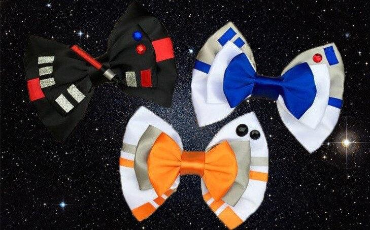 Mariage - The Dark Side and Orange Droid Inspired Hair Bows