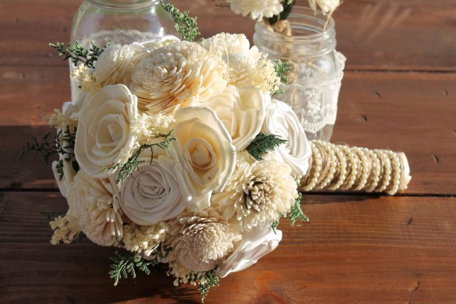 Ivory Sola Flower Bouquet, Cream Sola Flower Bouquet, Cream Sola ...
