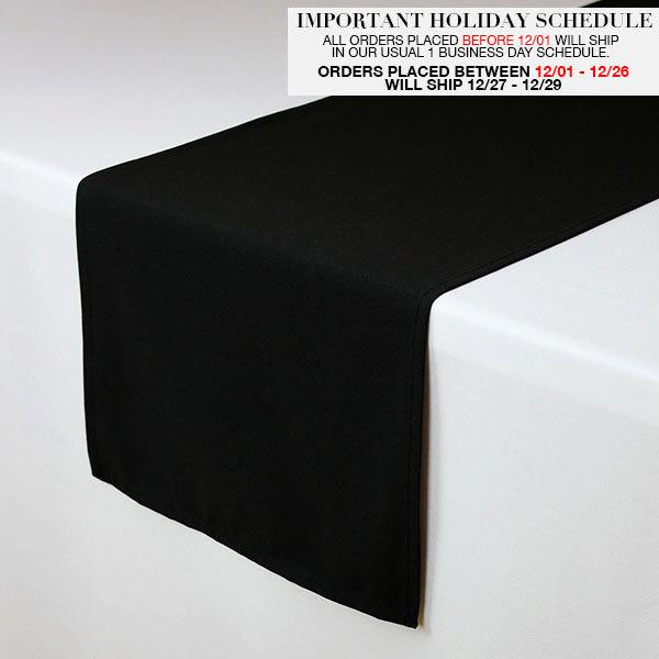 Black Table Runner 14 X 108 Inches