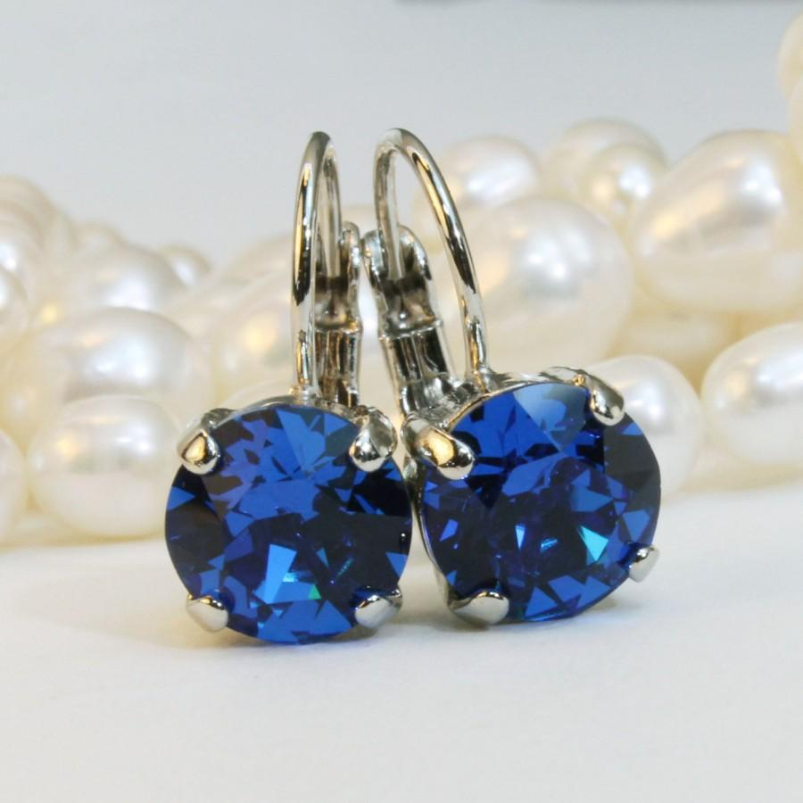 earrings jewelry ert erte blue deepa gurnani cobalt lyst in med
