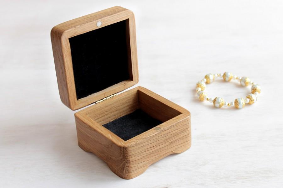 Wood Gift Box Unique Jewelry Wooden Storage Handmade Trinket Earring Brooche Bangle Bracelet Earrings