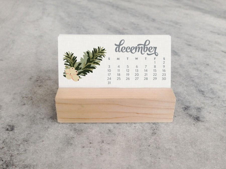2017 Mini Desk Calendar With Wood Stand Monthly Calendar Stocking