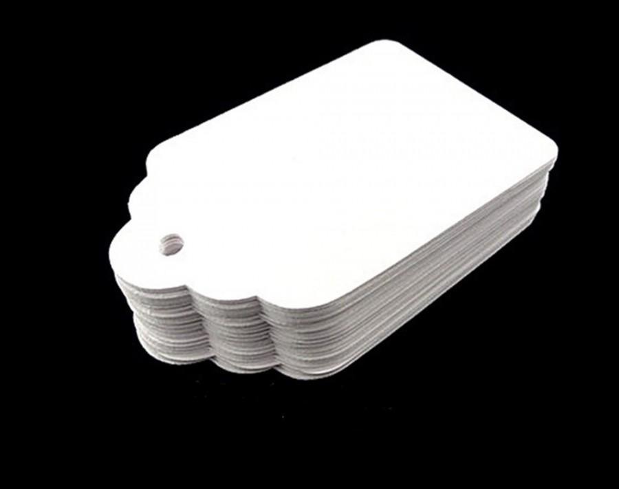 """زفاف - White Paper tags, Blank White Tags, White Wedding Tags, White Hang tags, White Gift tags, White Favor Tags, size 3 1/8"""" x 2"""" Choose quantity"""