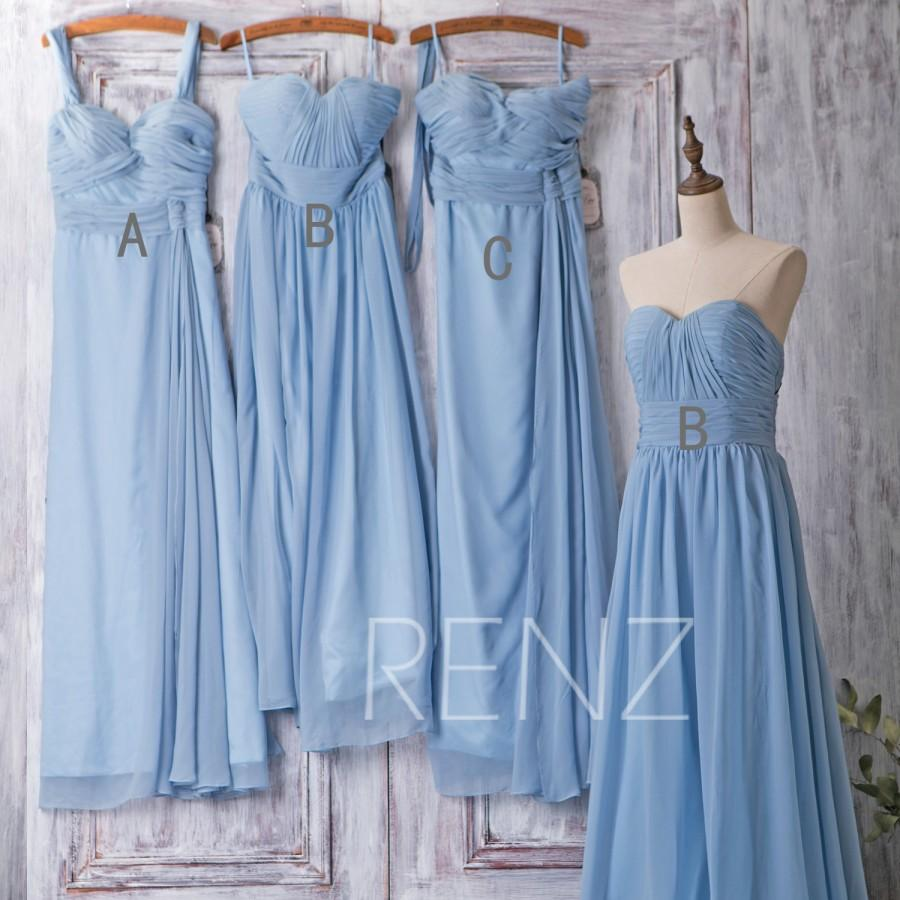 2016 light blue bridesmaid dress mix and match prom dress for Pale blue dress for wedding