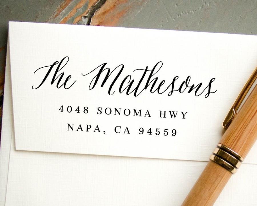 زفاف - Self Inking Stamp, Custom Rubber Stamp, Custom Address Stamp, Custom Stamp, Return Address Stamp, Bridal Shower Gift, Hand Calligraphy Look