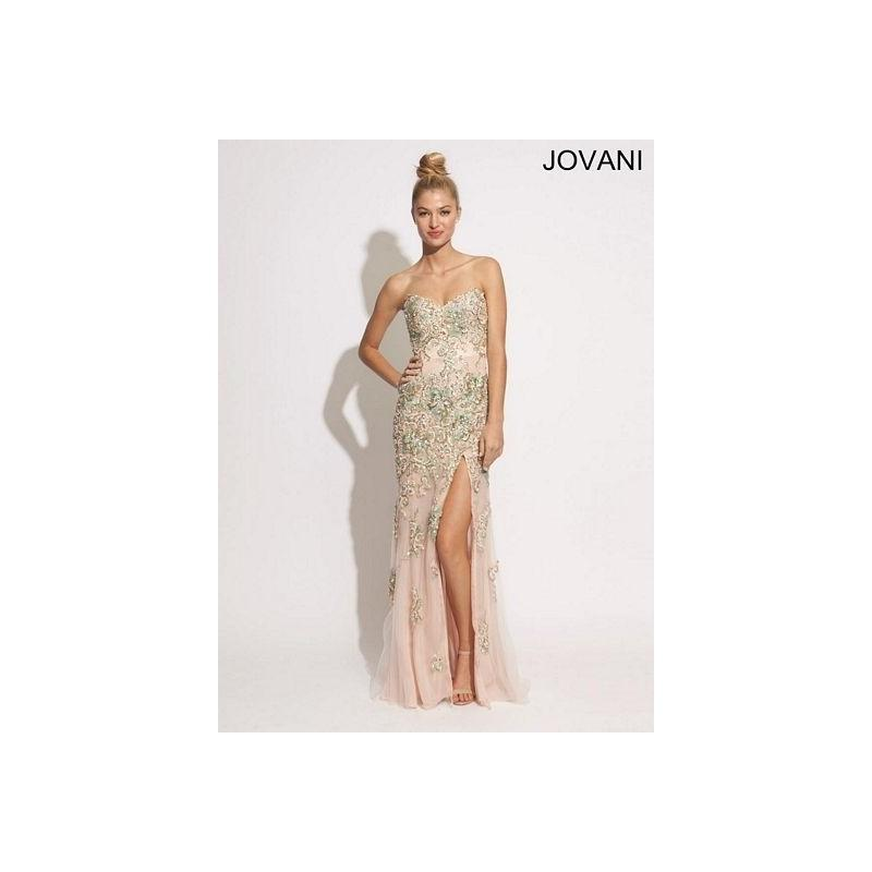 Mariage - Jovani 89259 Gown with Beaded Appliques - Brand Prom Dresses