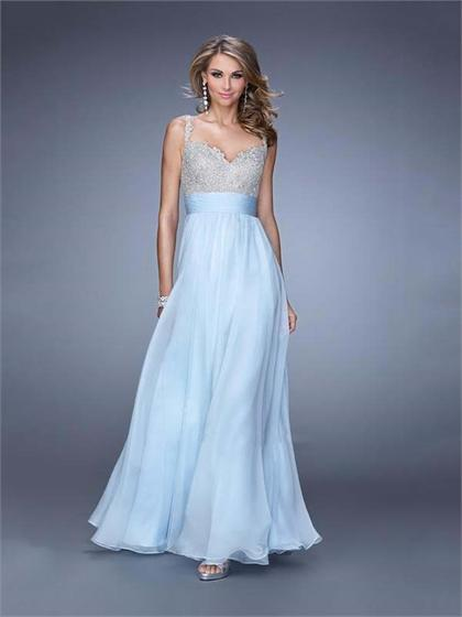 Свадьба - A-line Sweetheart With Beaded Straps and Bodice Prom Dress PD3144