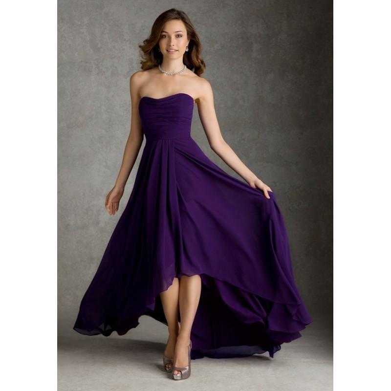 Wedding - Mori Lee Bridesmaids 694 Strapless High Low Chiffon Dress - Crazy Sale Bridal Dresses