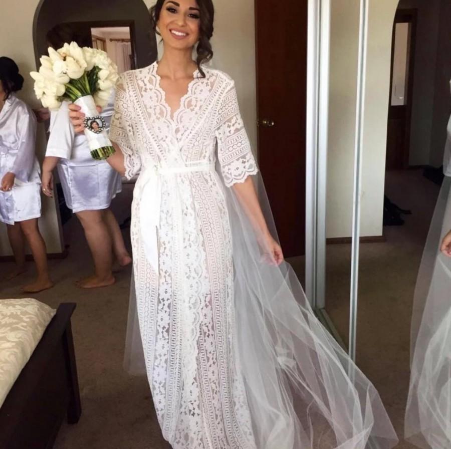 Lace Bridal Robe Bridesmaid Robes Bride Party Gifts Satin