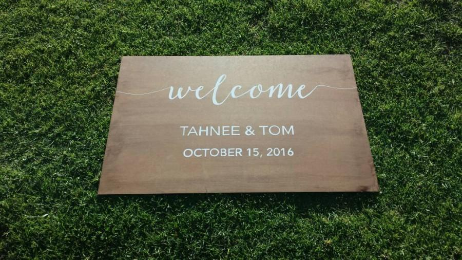 Mariage - Personalised Wooden Wedding Sign