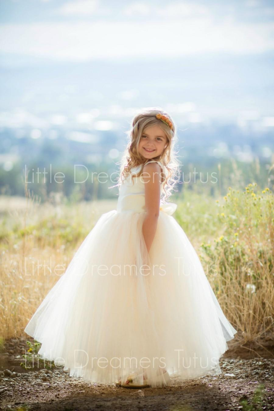 33bf228cce NEW! The Juliet Dress In Ivory Light Gold - Flower Girl Tutu Dress ...