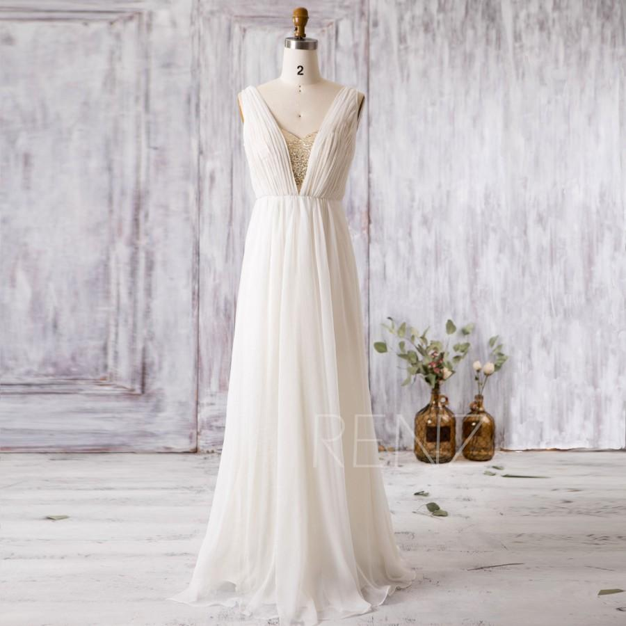 5df654268ba 2016 Off White Chiffon Bridesmaid Dress