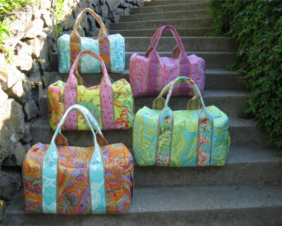 زفاف - Bridesmaid Gift Set of 5 Custom Travel Duffels