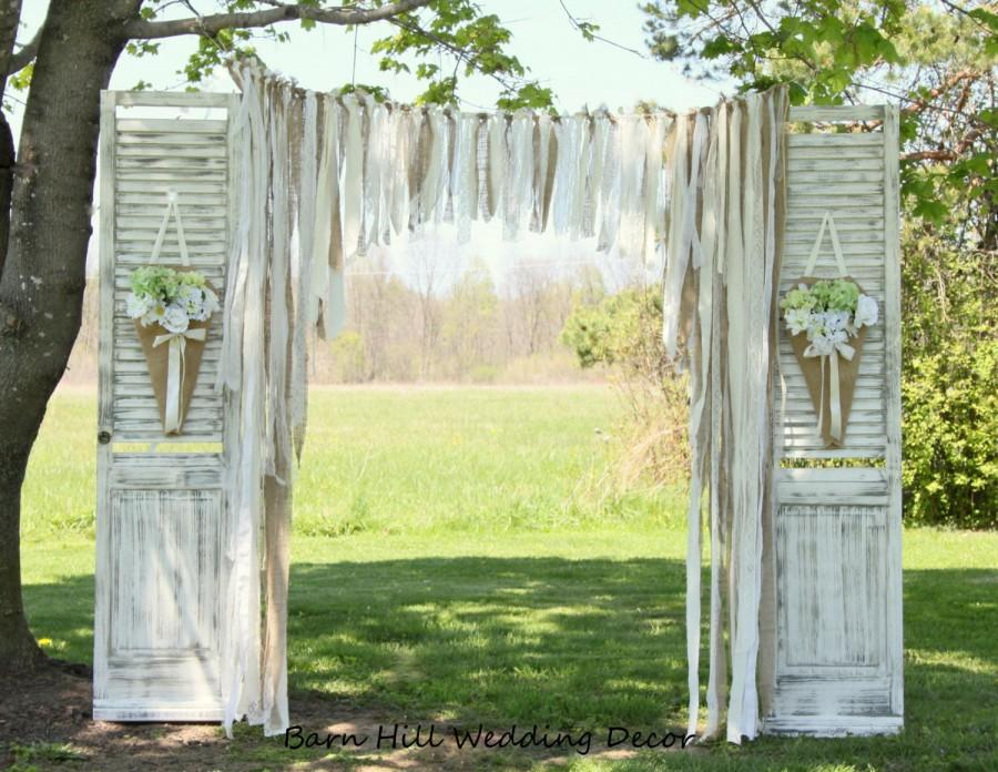 Wedding Curtains Backdrop Lace Wedding Garland Burlap Garland