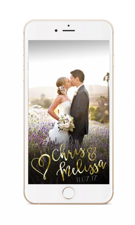 Wedding - SNAPCHAT GEOFILTER, Custom Snapchat Geofilter, Wedding geofilter, Snapchat filter, gold lights snapchat geofilter