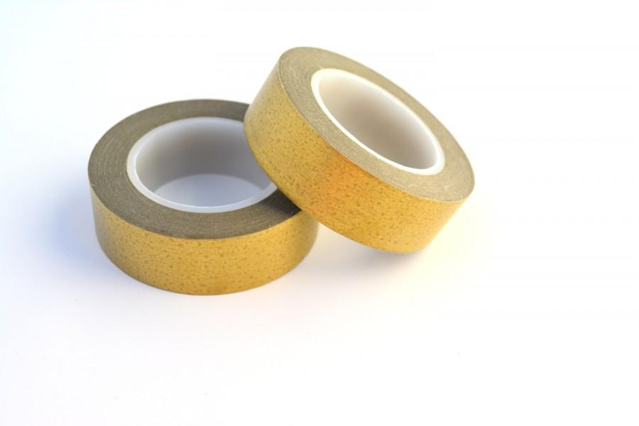 Wedding - GOLD -Metallic Gold washi tape -Gold Washi paper adhesive tape for Wedding Stationary or Planner Keeping *METALLIC GOLD *Gold -Wedding Decor