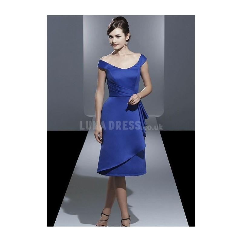 زفاف - Pleasant A line Off the Shoulder Satin Zipper up Bridesmaid Gown - Compelling Wedding Dresses