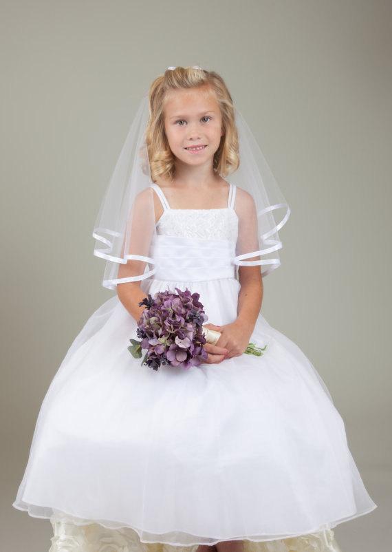 Свадьба - Flower Girl Veil/ Communion