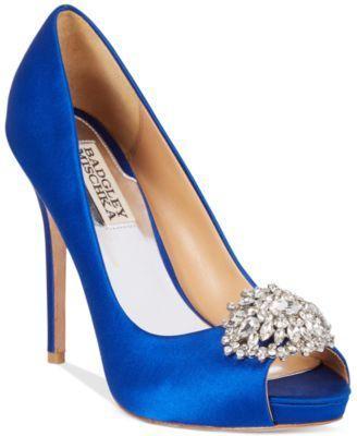 524e1864673 Shoe - Badgley Mischka Jeannie Peep-Toe Pumps  2626249 - Weddbook