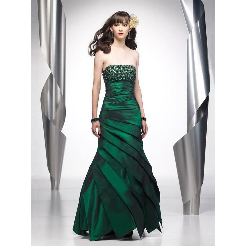 Wedding - Bright Mermaid Strapless Beading Sleeveless Floor-length Taffeta Prom Dresses In Canada Prom Dress Prices - dressosity.com