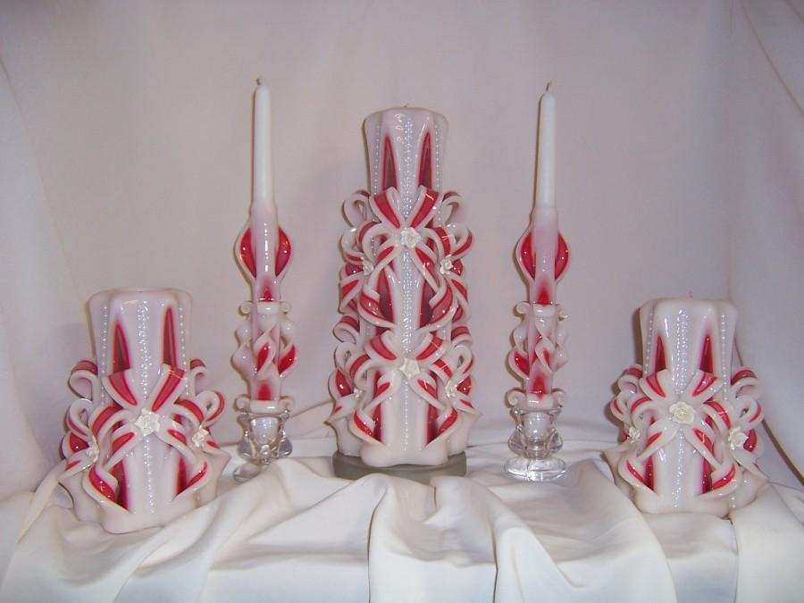 Wedding - Wedding candle-carved 5 piece set