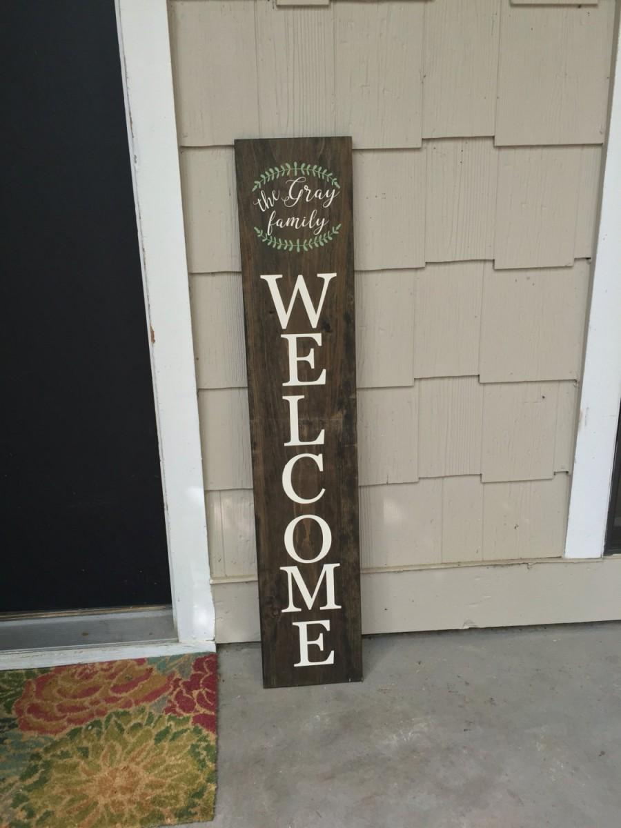Welcome, Welcome Sign, Personalize Your Sign, Welcome Home ...