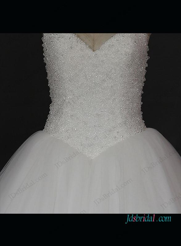 Mariage - Sparkly beading princess tulle ball gown wedding dress