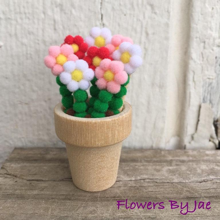 """Свадьба - 2"""" Valentine's Day Pom Pom Bouquet"""