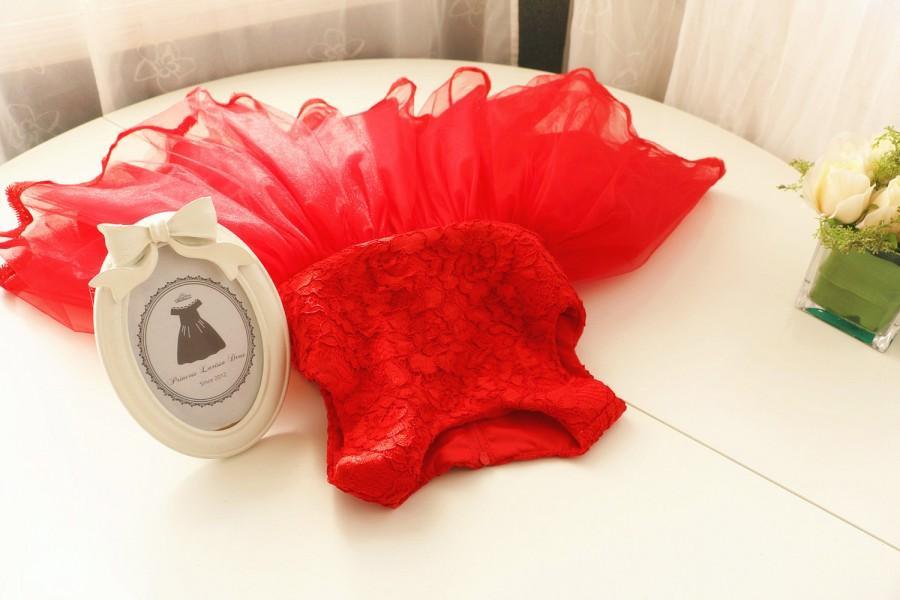 Свадьба - HOT RED Flower Girl Dress, Baby Christmas Dress, Thanksgiving Dress Toddler, Pageant Dress, Birthday Dress 1 Year Old, PD087-2