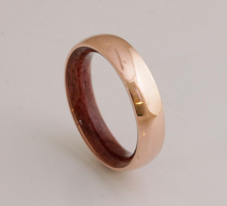 copper wedding band copper wood ring man ring mens wood wedding band purple heart woman man wood wedding ring - Mens Wooden Wedding Rings
