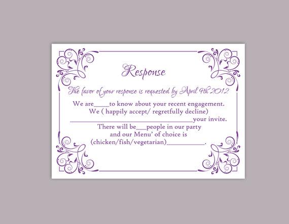 rsvp card samples for wedding