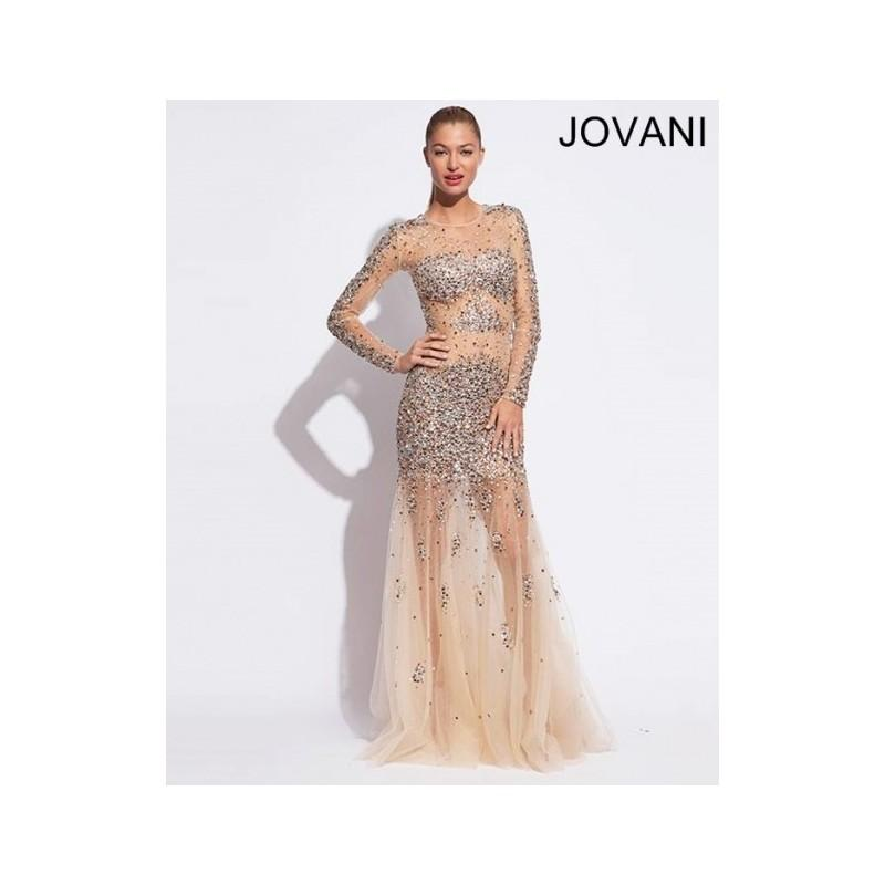Wedding - Cheap 2014 New Style Jovani Prom Dresses  74405 Nude - Cheap Discount Evening Gowns