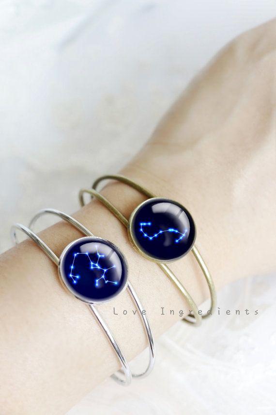 Hochzeit - Zodiac Bracelet, Horoscope Constellation Bracelet, Zodiac Jewelry, Horoscope Jewelry ,Resin Jewelry,Resin Bracelet,Space Bracelet Jewelry BH