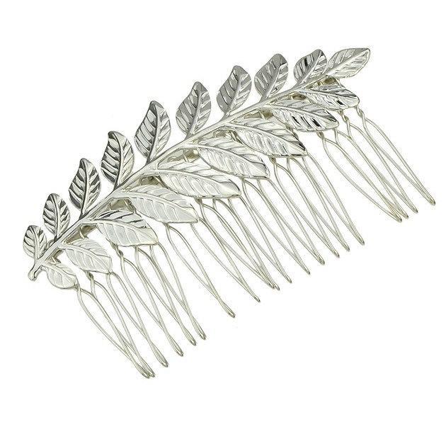 زفاف - Silver Leaf Hair Comb. Bridal Hair Comb, Leaf Headpiece, Wedding Hair Accessory, Woodland Hair Accessory, Silver Leaf Hair Comb