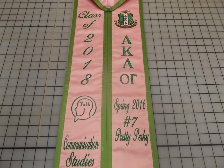 Mariage - Graduation Stoles Slanted  / custom made starting at  35.00  / Three Letters Vertical / class of 2017 /satin Trim/ Design your stoles