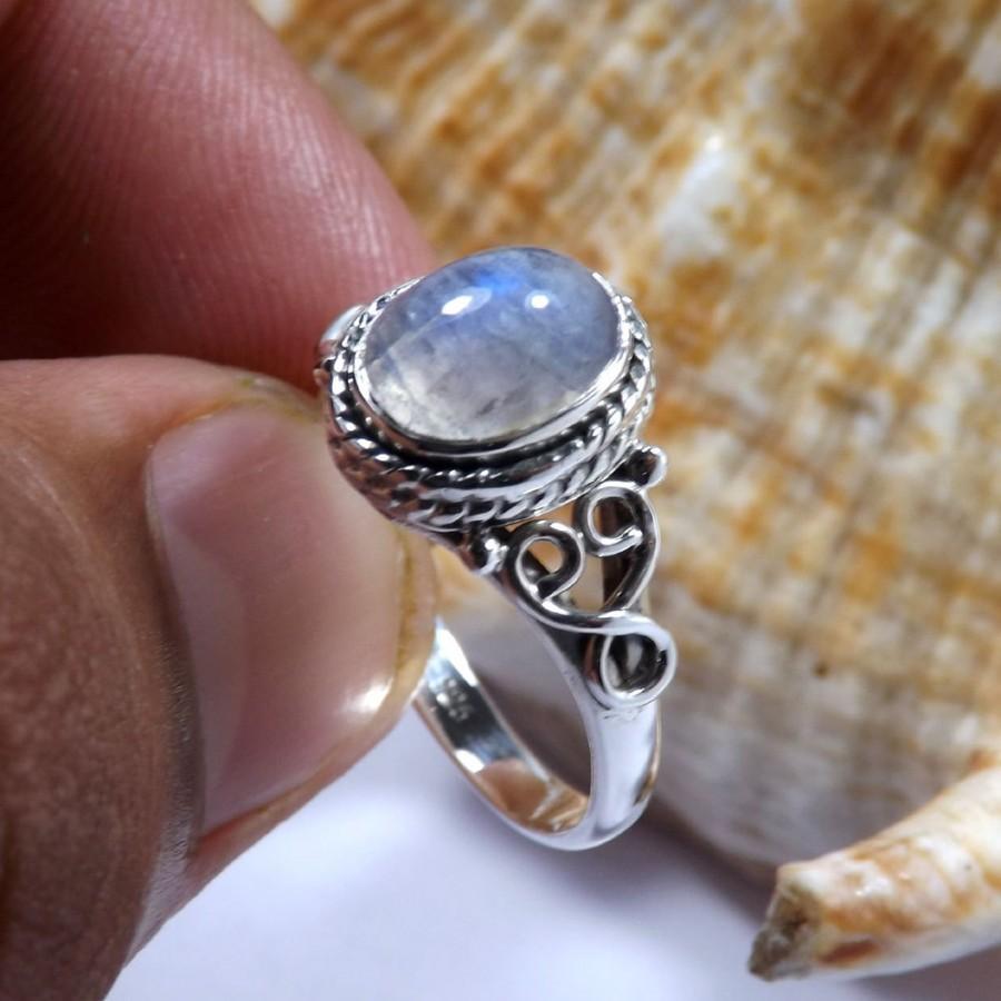 Hochzeit - Rainbow Moonstone Ring, Moonstone Ring, Handmade Ring, Gemirthstone Ring, Unique Ring, Designer Ring, Silver Ring, Birthday Gift Ring, Rings