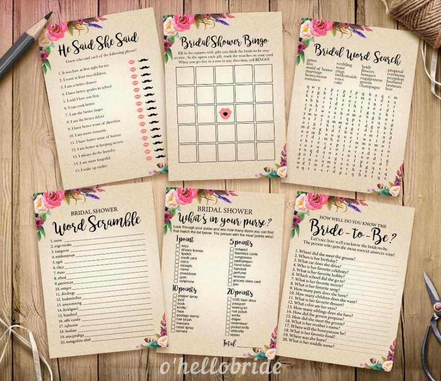 bohemian bridal shower games package printable boho bridal shower games bridal shower games bachelorette bash games 003