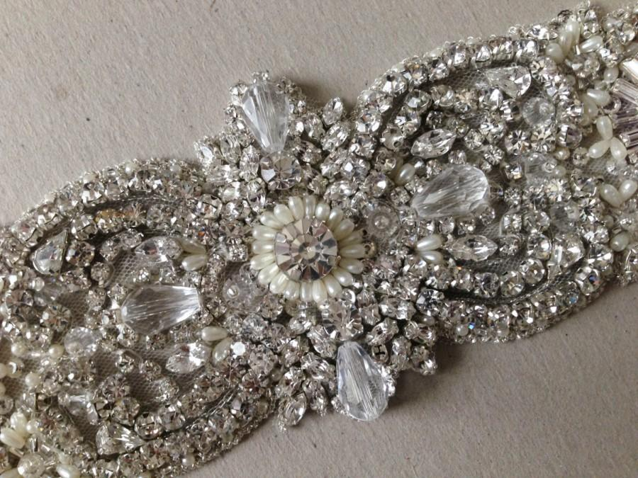 Свадьба - Wedding Dress Sash - Italia Sparkle 7.5 inches (Made to order)