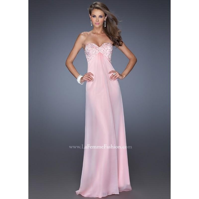 Wedding - La Femme 19740 Strapless Empire Dress Website Special - 2017 Spring Trends Dresses