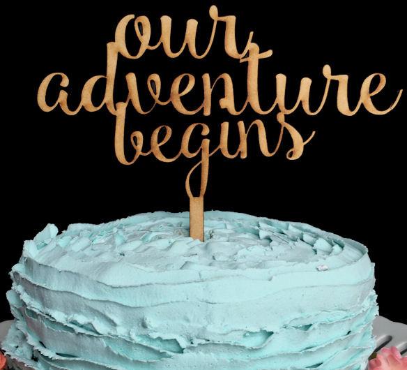 Mariage - Our Adventure Begins Wedding Cake Topper, Our Adventure Begins, Wedding Cake Topper, Cake Topper Wedding, Cake Topper, Custom Cake Topper