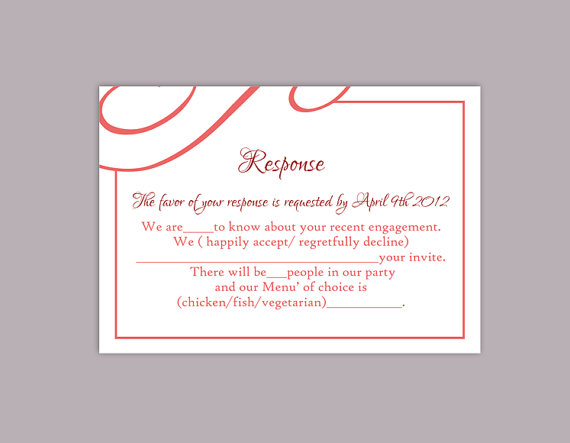 template for rsvp cards for wedding