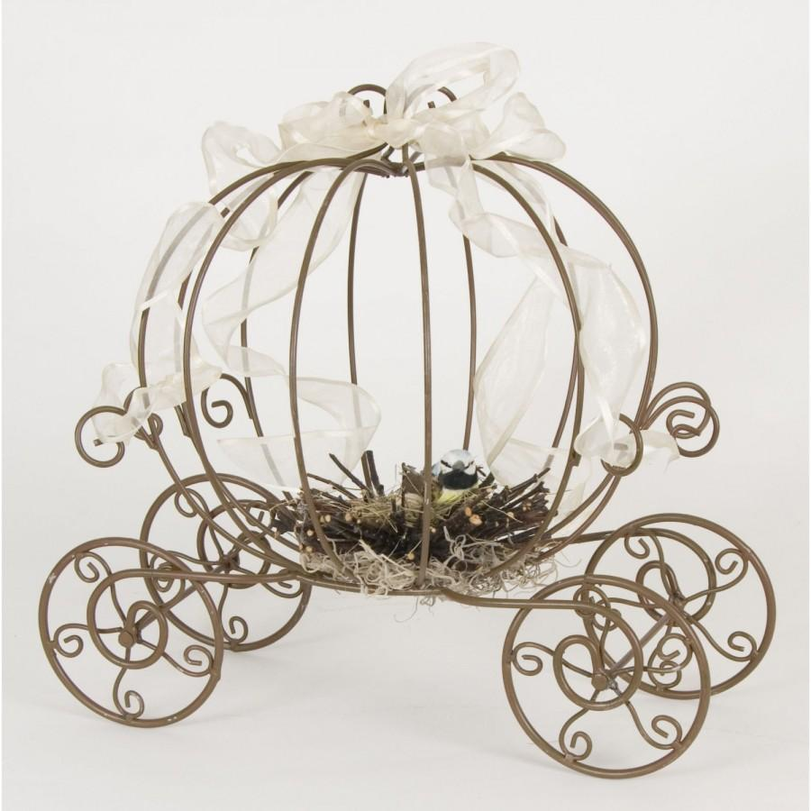 Hochzeit - THE ORIGINAL Inspired by Disney Fairytale Wedding Cinderella's Carriage Coah Pumpkin table centerpiece decor.