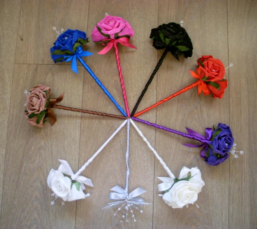 Свадьба - Artificial Wedding Flower Girl Wand
